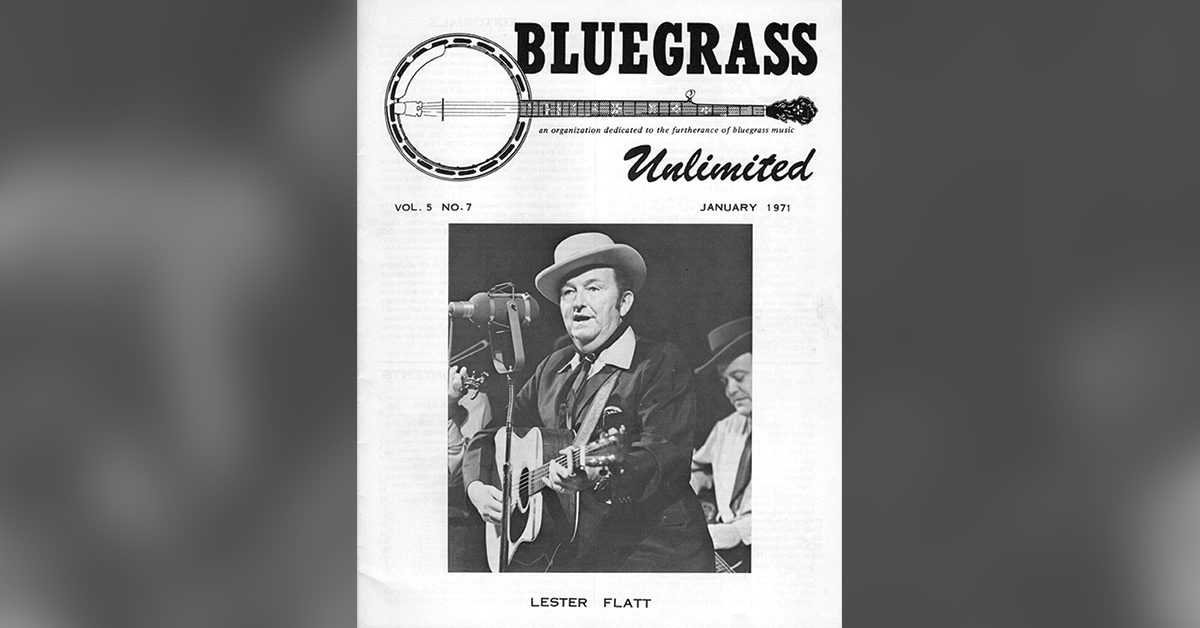 Old cover of Bluegrass Unlimited