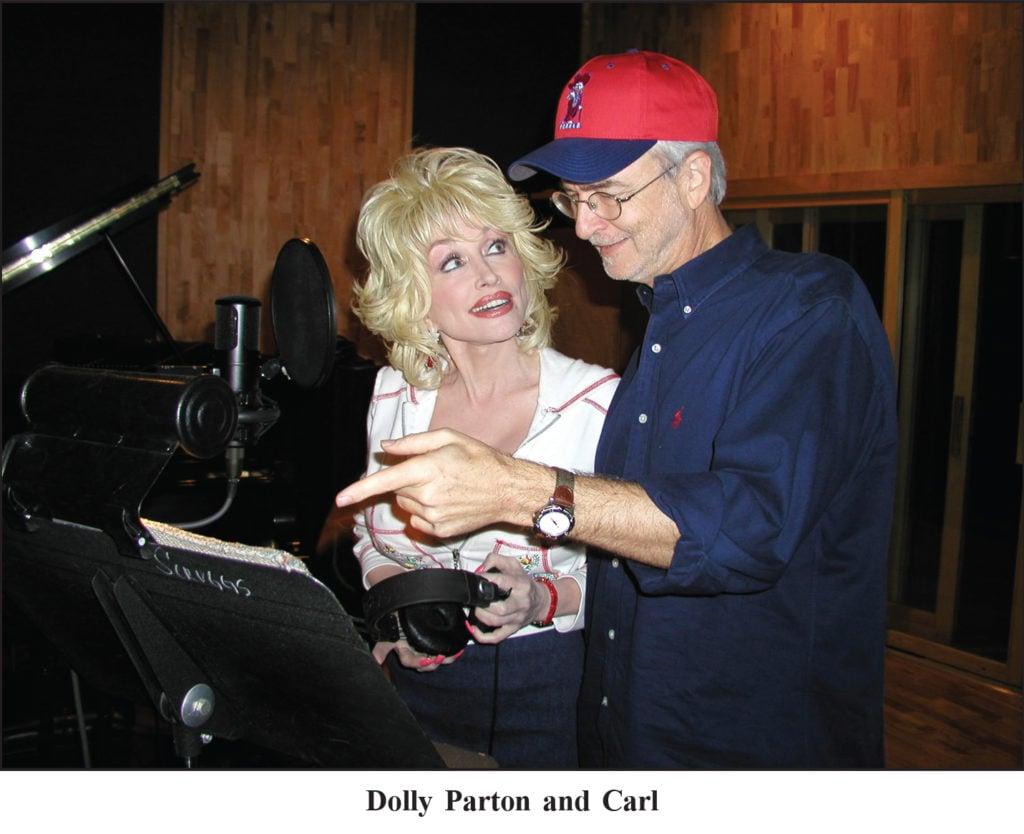 Dolly Parton and Carl Jackson writing/singing/recording music