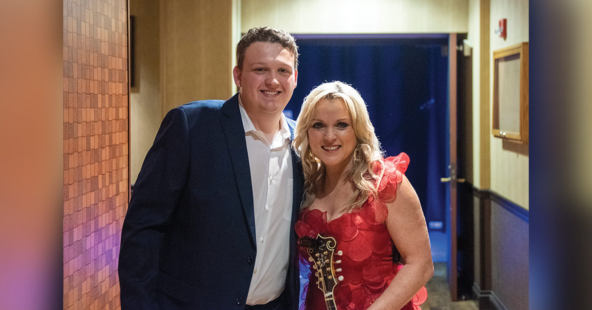 Zack Arnold with Rhonda Vincent